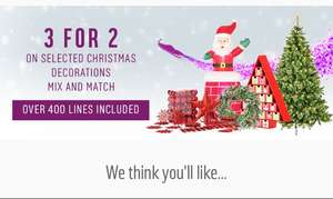 Argos 3 for 2 on Christmas decorations