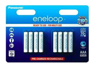 Panasonic Eneloop AAA HR03 Rechargeable NiMH Batteries at 7dayshop for £10.89