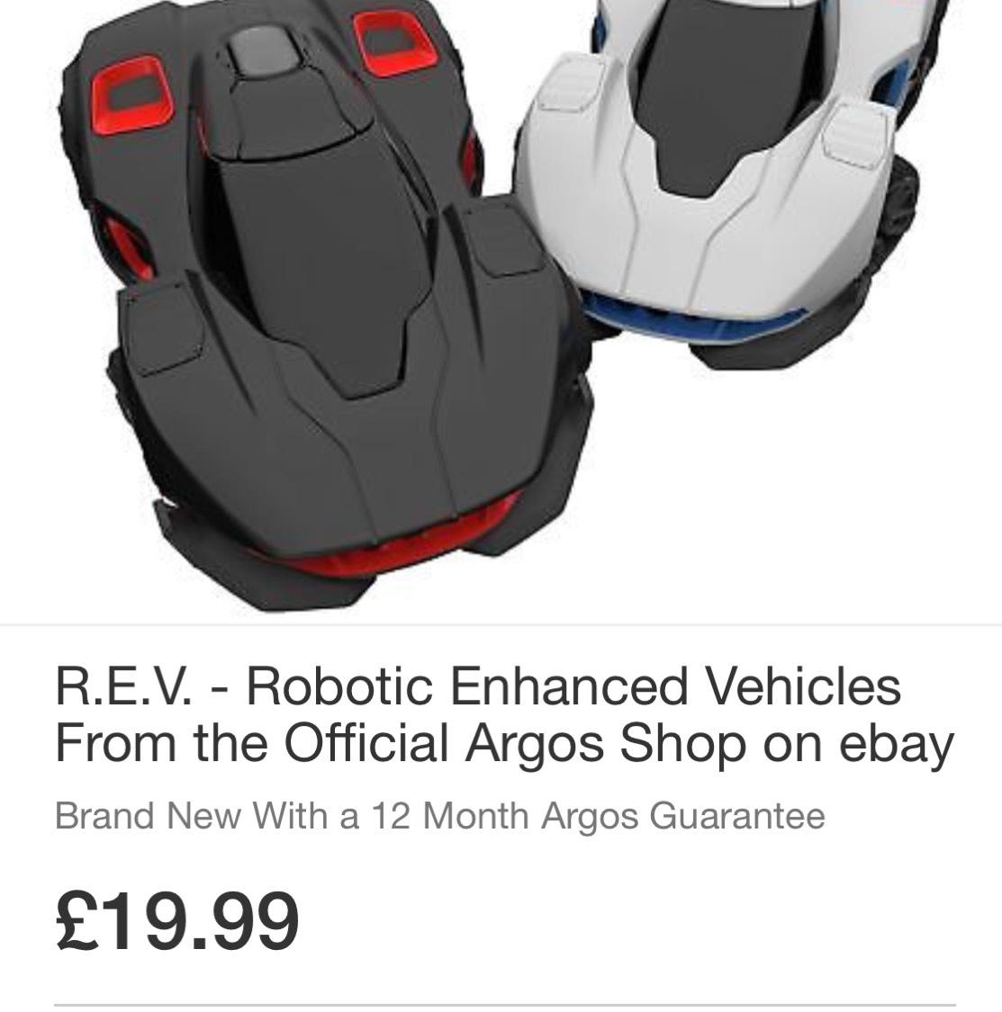 R.E.V Robitic Enhanced Vehicles at Argos Ebay for £19.99