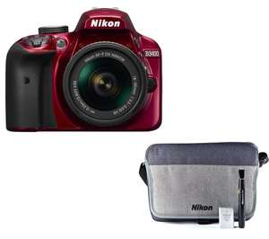 Nikon 3400 red with accessory bag bundle £374 @ Currys