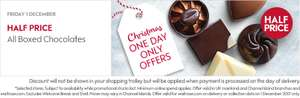 All boxed chocolates 1/2 Price on Friday only at Waitrose