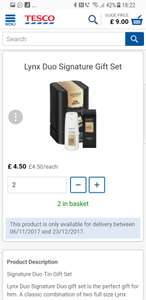 Lynx Signature Gift Set £4.50 at tesco