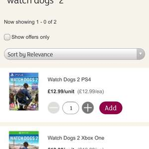 Watchdogs 2 on Xbox one or PS4 £12.99 @ Sainsbury's