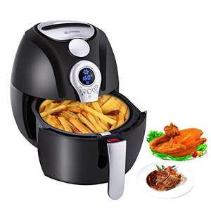 Electric Air Fryer, Blusmart Power AirFry Oil Free/less with Temperature and Time Control LED Display 3.4Qt/3.2L 1400W Fry Basket & Recipe Book  £51.99+ Free Delivery in the UK@CYUK via Amazon.