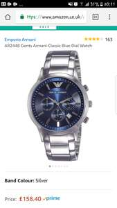Men's Emporio Armani Ar2448 Chronograph watch - £158.40 @ Amazon