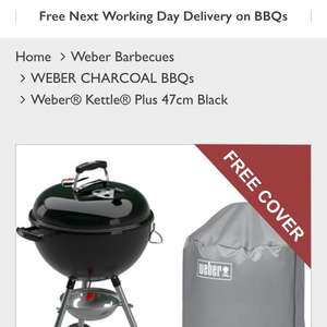 Weber® Kettle® Plus 47cm Black - £99.99 Delivered @ WowBBQ