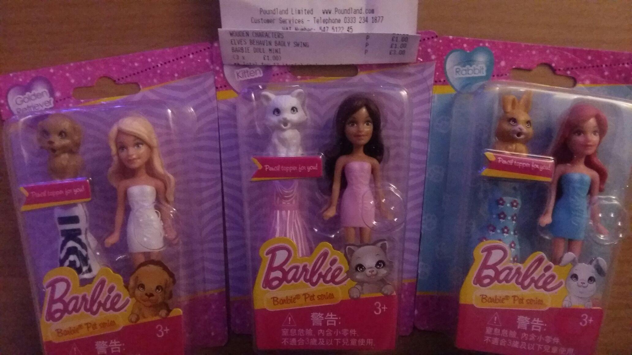 Barbie pet series £1 at Poundland