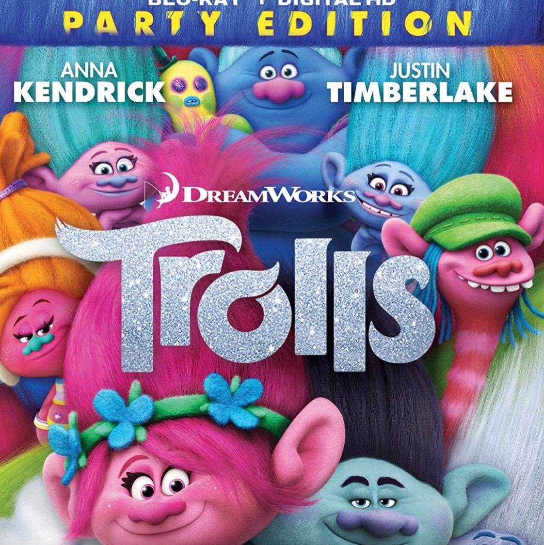 Trolls Blu-ray Party Edition @ Amazon - £6.50 Prime / £8.49 non-Prime
