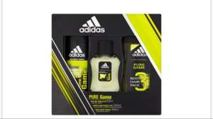 Adidas Pure Game 3 Piece Gift Set £3 at Tesco