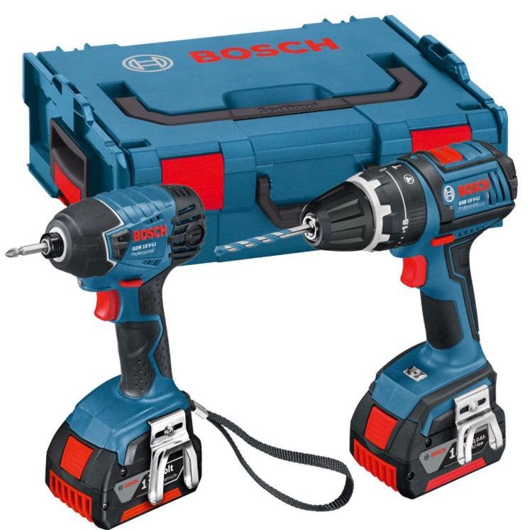 Bosch  GSB 18 V-LI Combi Drill and GDR 18 V-LI Impact Driver (Dynamic Series) Twin Pack £184.99 Amazon
