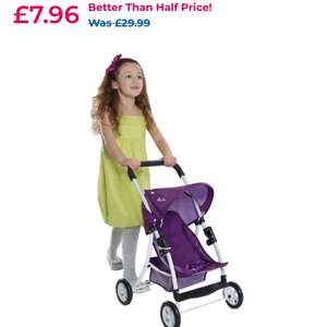 Silver Cross Doll's Cruiser Pushchair in Damson  £7.96 at Toys R U s