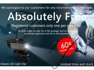 Flexi clip on LED light - FREE with code.  Pay postage of 60p  Zapals