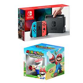 Nintendo Switch Neon + Mario and Rabbids Kingdom Battle Collectors Edition £309.99 @ Game