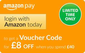 Edit 12/12 - Back On - Login with Amazon and get a voucher code for £8 off when you spend £40 @ The Entertainer