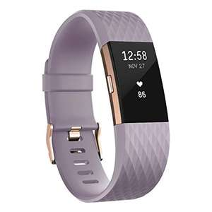 Fitbit Charge 2 Heart Rate and Fitness Wristband Special Edition Lavender and Rose Gold - £129.99 @ Amazon