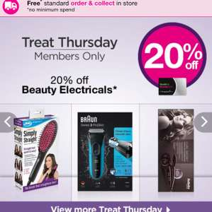20% off Selected Beauty Electricals @ Superdrug (Beauty Card Members only)