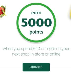 Earn 5000 more points £40 spend check your emails @ Morrisons