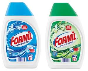 Formil Non-Bio and Biological gel 21 wash for only 99p in Lidl this weekend 2nd-3rd Dec
