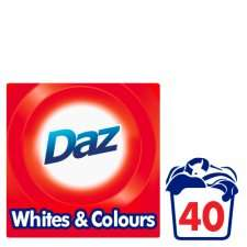 Daz Washing Powder 40 Washes 2.6Kg £4 at Tesco
