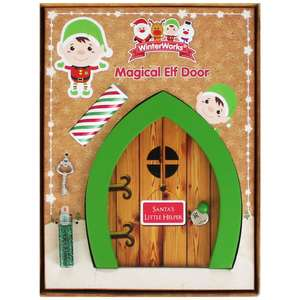 Wooden Magical Elf Door (with wish list scroll, key & glitter) was £2 now £1 C+C @ The Works