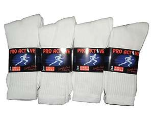 12 Pairs mens white sports socks - £6.71 (Prime) £10.70 (Non Prime) @ Sold by World of Hosiery and Fulfilled by Amazon