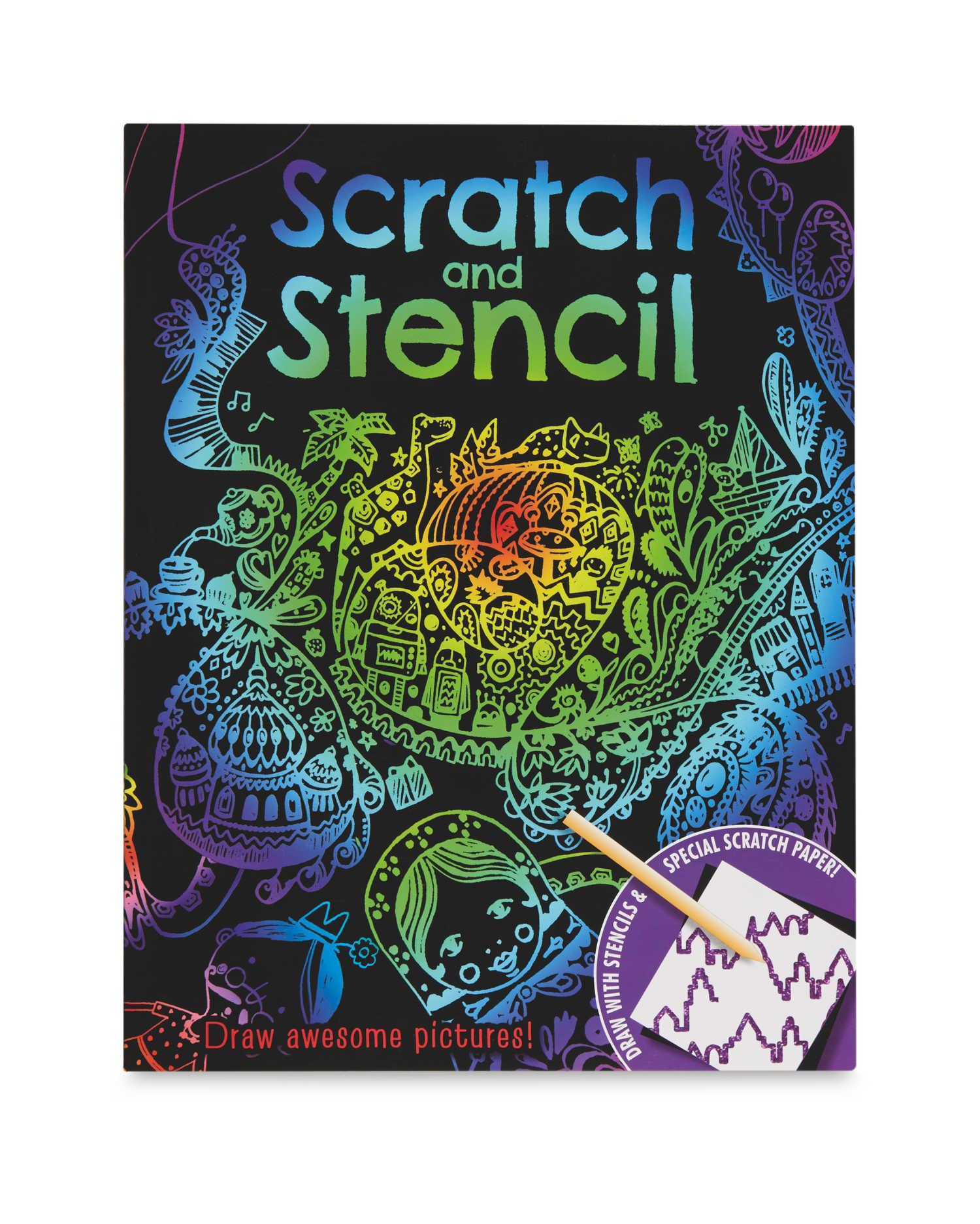 Aldi - Scratch and Stencil Books IN STORE ONLY - £2.99