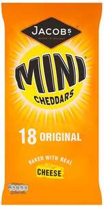 Jacob's Mini Cheddars (25g x 18 per pack) Half price, was £3.99 now £1.99 @ Ocado
