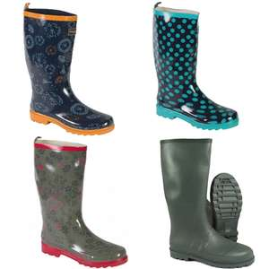 Regatta Lady Libertine Wellies (3 designs to choose from) £8.99 / Regatta Men's Clyro Wellies£8.99 Free Del w/code @ Winfields Outdoors