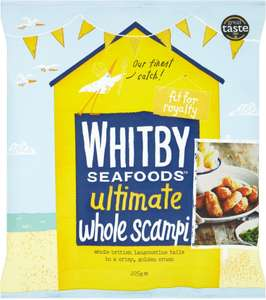 Whitby Seafoods Breaded Scampi Frozen (225g) £2.50 for ONE Bag but until Boxing Day (December 26th) you can now get TWO bags for the price of ONE @ Ocado