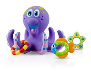 Nuby Octopus Floating Bath Toy (Multi-Coloured) £4.99 (Prime) / £6.98 (non Prime) at Amazon