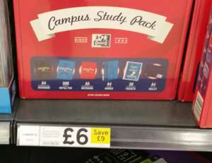 Campus study pack -  £6 at Tesco instore