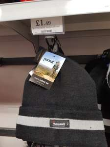 Thinsulate Men's knitted hat £1.49 Homebargains instore