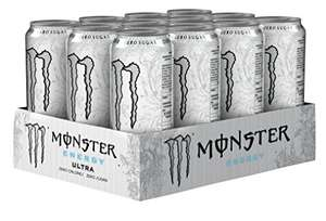 Monster Energy Ultra Drink Can 500 ml Can (Pack of 12) £7.65 + Free Delivery (Amazon Prime / £12.40 non Prime)