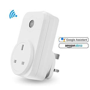 Wifi Smart Plug Work with Amazon Alexa Google Assistant £12 prime / £14.75 None Prime (sold by Glenalderltd)