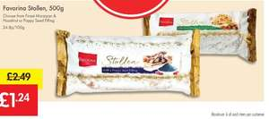 Heads Up - Stollen Cake Loaf 500g £1.24 (Half Price)  - LIDL (Favorina) - Finest Marzipan & Hazelnut or Poppyseed Filling - 9/10 Dec Weekend