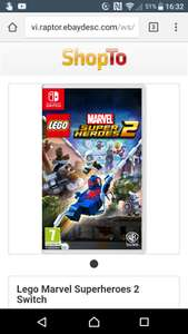 Lego Marvel Superheroes 2 - Nintendo Switch - £34.85 @ Shopto, Ebay outlet.