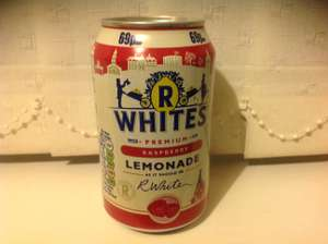 R Whites Raspberry Lemonade 5 x 330ml cans £1.00 or 25p each @ Heron