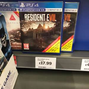 Resident evill PS4 £17.99 instore @ Sainsbury's
