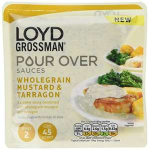 LOYD GROSSMAN® Pour Oven Gourmet Sauces - Pack of 6 Pouches ~ Wholegrain Mustard and Tarragon only £2.06 @ Amazon.co.uk [Add-on Item]