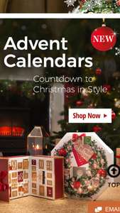 Yankee Advent Calendars 50% off @ Yankee Candle Store Cheltenham