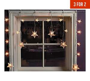 ARGOS! 3 for 2! 20 Star Window Christmas Decoration Lights
