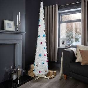 Half price pop up Christmas tree in white, black and champagne £15 @ B&Q