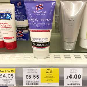 Neutrogena Visibly Renew Hand Cream. £5.55 each or 2 for £5 Online and in-store at Tesco