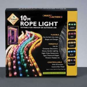 PREMIER XMAS - 10M Multi Action Rope Light Clear. 10.99 + Free Delivery @ Amazon (sold by San Direct)