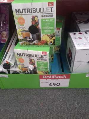 Nutribullet 600 series £50 ( asda in store fleetwood)