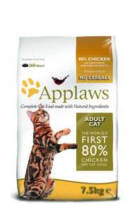 Applaws Cat Dry Adult Chicken, 7.5 Kg @ Amazon £28.87
