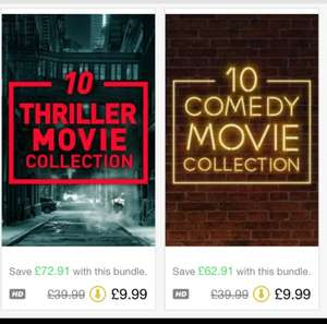 iTunes movies - Comedy and Thriller Collection - 10 movies for £9.99.
