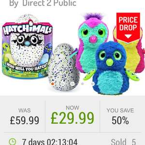 Hatchimals £29.99 plus free delivery at Go Groopie