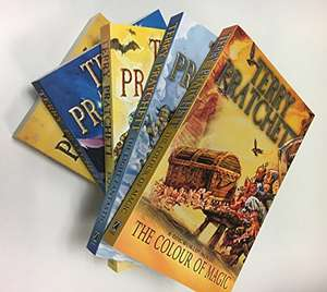 The first 5 discworld novels by Terry Pratchett £16 @ Amazon