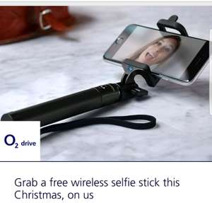 Free selfie stick with O2 Priority App